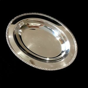 Oval silver serving bowl.  B2